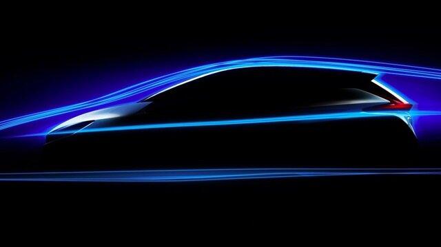 Nissan'ın tamamen elektrikli modeli Nissan Leaf.