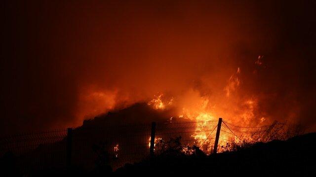 Denizli'deki katı atık tesisinde yine yangın çıktı