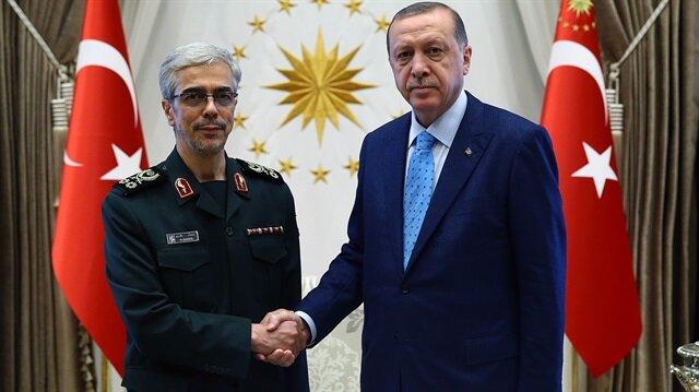 أردوغان يستقبل رئيس الأركان الإيراني في أنقرة