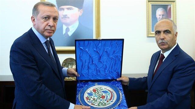 Erdoğan Denizli Valiliği'ni ziyaret etti