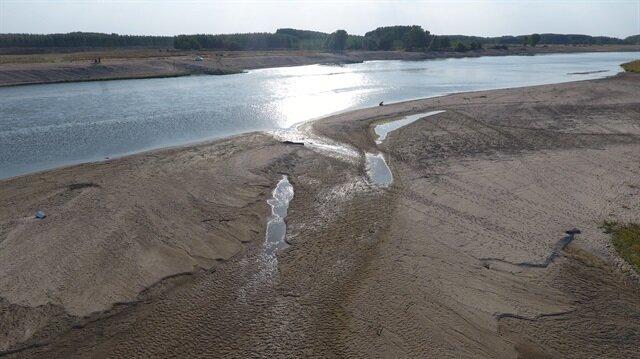Tunca Nehri'nde su seviyesi dibi gördü