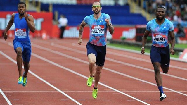 Dünya şampiyonu Ramil Guliyev, Diamond League'in Birmingham ayağında erkekler 200 metreyi 20.17'lik derecesiyle kazandı.