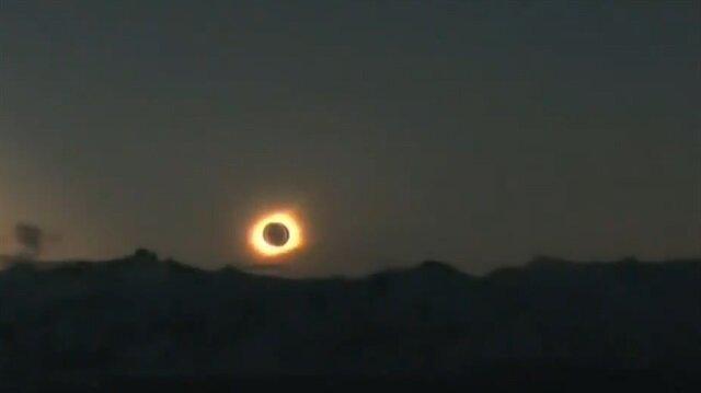 Güneş tutulması farklı açıdan böyle görüntülendi