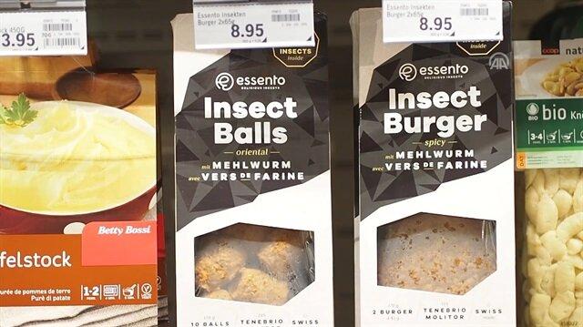 İsviçre'de böcekburger satışta