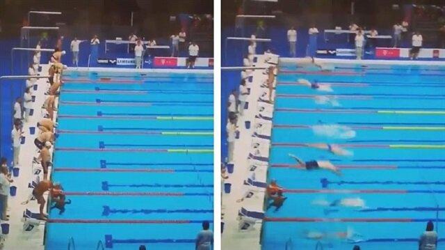 İspanyol yüzücü Fernando Alvarez'in yaptığı saygı duruşu yankı uyandırdı.