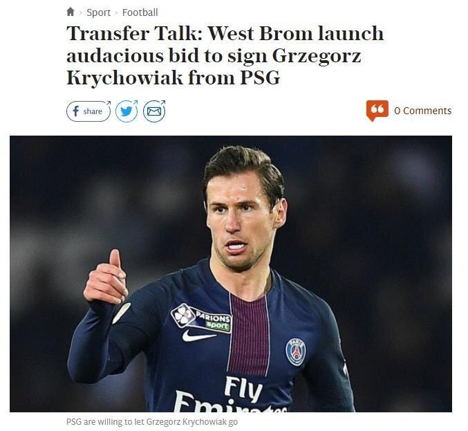 Telegraph haberi 'West Bromwich Albion'dan cesur teklif' başlığıyla geçti.