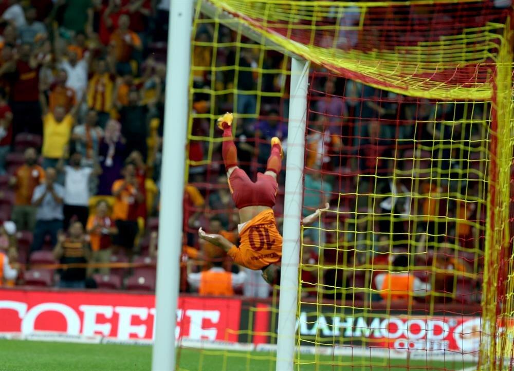 Belhanda'nın Kayserispor maçındaki gol sevinci.