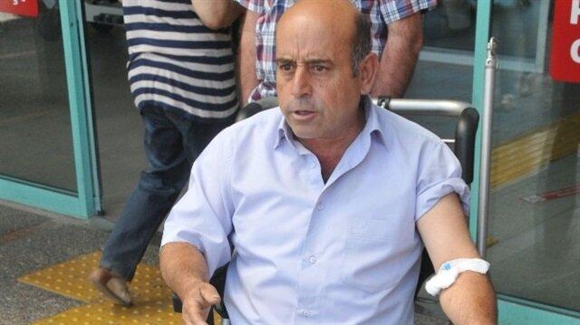 Mehmet Toyka, maganda kurşunu ile ayağından yaralandı.