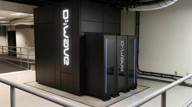 A D-Wave 2X quantum computer is pictured