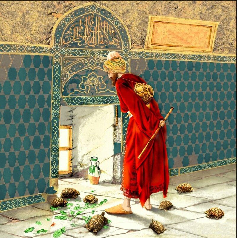 Sergide yer alacak tablolardan biri de birçoğumuzun bildiği Ahmet Hamdi Bey'in kaplumbağa terbiyecisi olacak.
