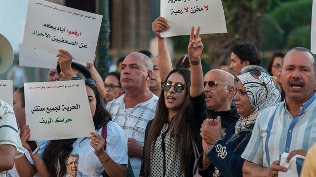 """وقفة بالرباط للمطالبة بإطلاق صحفيين موقوفين على خلفية """"حراك الريف"""""""