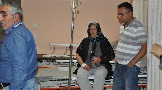 Zehirlenen vatandaşlar, KAÜ Sağlık Araştırma ve Uygulama Hastanesine başvurdu