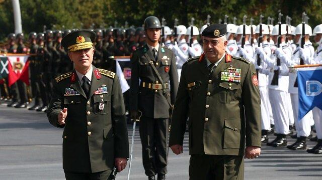 رئيس الأركان التركي يستقبل نظيره الأردني في أنقرة