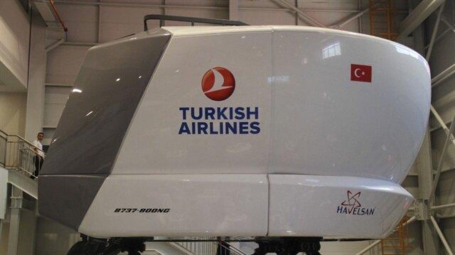 HAVELSAN'ın ürettiği Türkiye'nin ilk milli sivil uçuş simülatörü THY bünyesinde