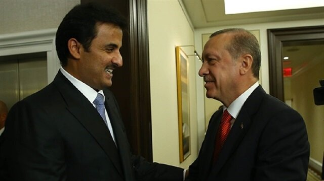 Al Thani (L) and Erdoğan (R)