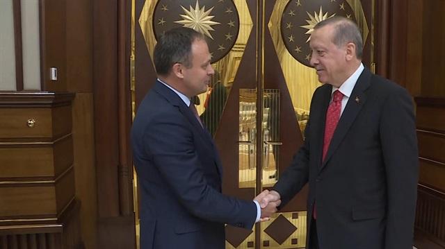 Cumhurbaşkanı Erdoğan, Andrian Candu ile görüştü
