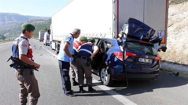 Ankara'da meydana gelen trafik kazasında 3 kişi hayatını kaybetti.
