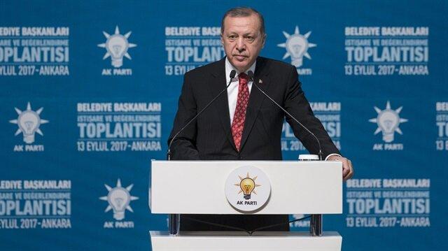 Cumhurbaşkanı Erdoğan: Teröristlerle yürümeye can atıyorlar