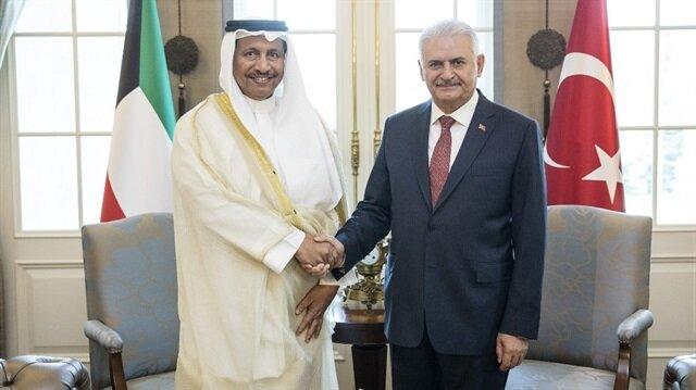 Başbakan Binali Yıldırım ile Kuveyt Başbakanı Şeyh Cabir el-Mübarek el-Hamad es-Sabah