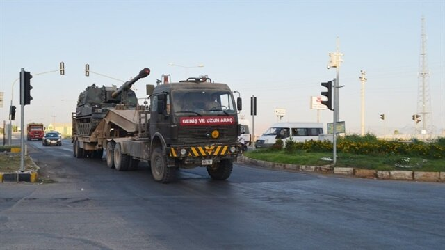 Suriye sınırına obüs sevkiyatı