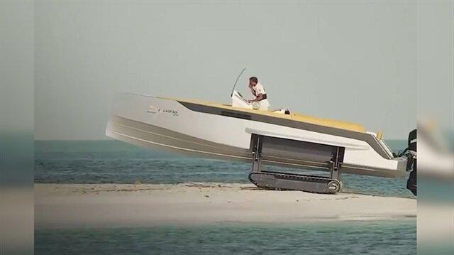 Bu tekne karada da gidebiliyor!