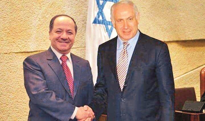 Barzani (L) and Netanyahu (R)