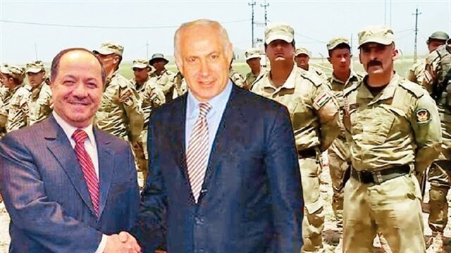 Barzani (L) and Netanyahu (R).