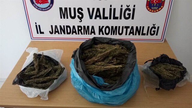 Muş Valiliği ele geçirilen uyuşturucuların fotoğraflarını yayınladı.