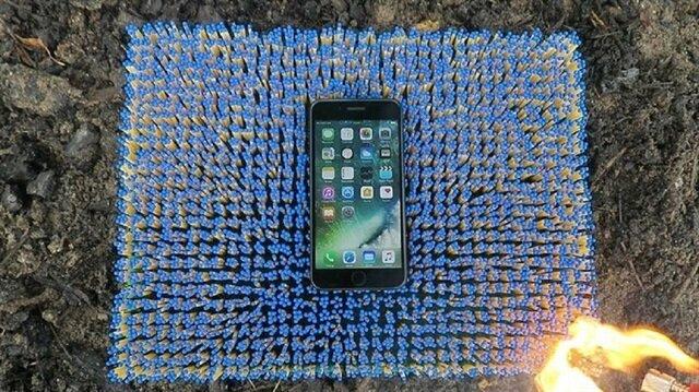 5 bin kibrit üzerinde iPhone 7 ateşe verildi