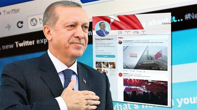 Cumhurbaşkanı Erdoğan'ın en beğenilen paylaşımları arasında çocuklarla ve torunlarıyla çektirdiği fotoğraflar yer alıyor.