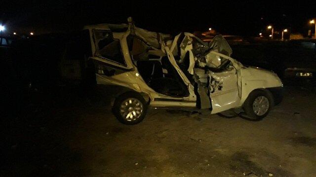 Ankara'daki kazada 5 kişi hayatını kaybetti, 1 kişi yaralandı.