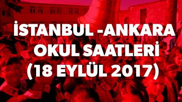 İstanbul ve Ankara'da okullar saat kaçta başlayacak? sorusunun yanıtı haberimizde.