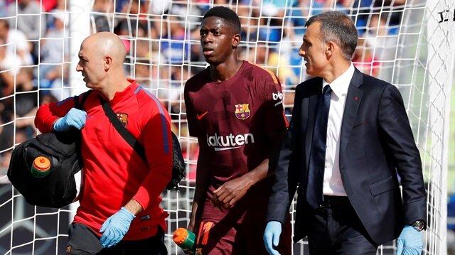 Yeni transfer Dembele, Barcelona formasıyla çıktığı 3. maçta sakatlandı.