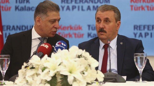 ARŞİV: Irak Türkmen Cephesi Lideri Salihi ile BBP Genel Başkanı Destici'nin 15 Eylül'deki görüşmesinden.