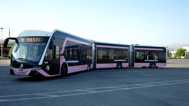 'Kadınlara özel' trambüs sefere başladı