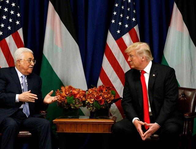 ABD Başkanı Trump Filistin Devlet Başkanı Abbas ile görüştü