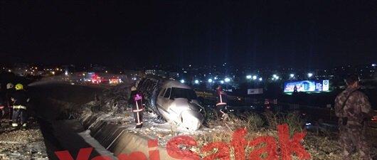 Özel jet Atatürk Havalimanı'na inişte yandı