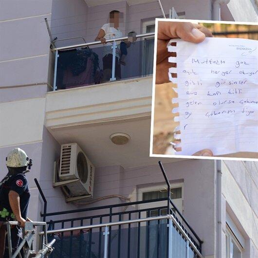 Balkondan attığı<br>not aileyi kurtardı