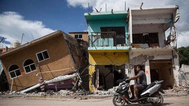 Meksika depreminden geriye bu görüntüler kaldı