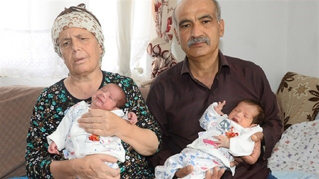 The couple named one of the babies after their son who drowned in the sea in Turkey's northern Rize.