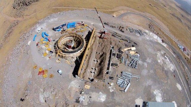 3170 rakımlı Konaklı Karakaya Tepeleri'ne inşa edilen ve sınıfında dünyada tek olma özelliği taşıyan teleskopun yer alacağı gözlemevinin inşaatının 2020 yılında tamamlanacağı açıklandı.