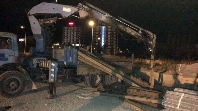 Amasya'da 41 ton rayı vinçle çaldı.