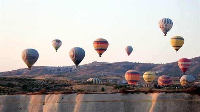 Kapadokya'da Çinli turist yoğunluğu