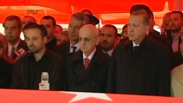Şehidin cenazesine Cumhurbaşkanı Erdoğan da katıldı