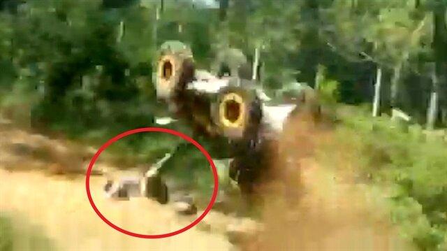 ATV ölüm getirdi! İşte o kaza anı