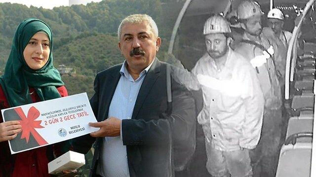 Madencileri görüntüleyen Aslı Ertürk'e hediye