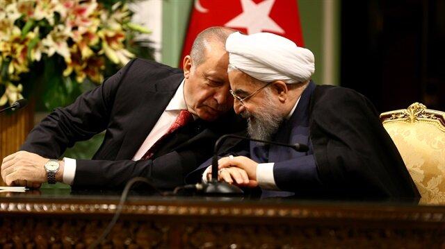 Cumhurbaşkanı Erdoğan ile İran Cumhurbaşkanı Ruhani