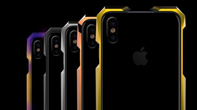 GRAY markası tarafından üretilen titanyum iPhone X kılıfı Advent Aurora