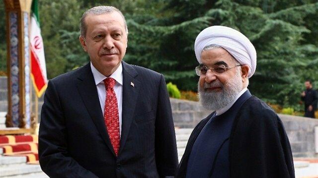 İran lideri Ruhani, Cumhurbaşkanı Erdoğan'ı kabul etti.