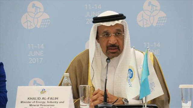 Saudi Arabia's Minister of Energy, Industry and Mineral Resources, Khalid Al-Falih speaks on Organisation of Petroleum Exporting Countries (OPEC) in Astana, Kazakhstan